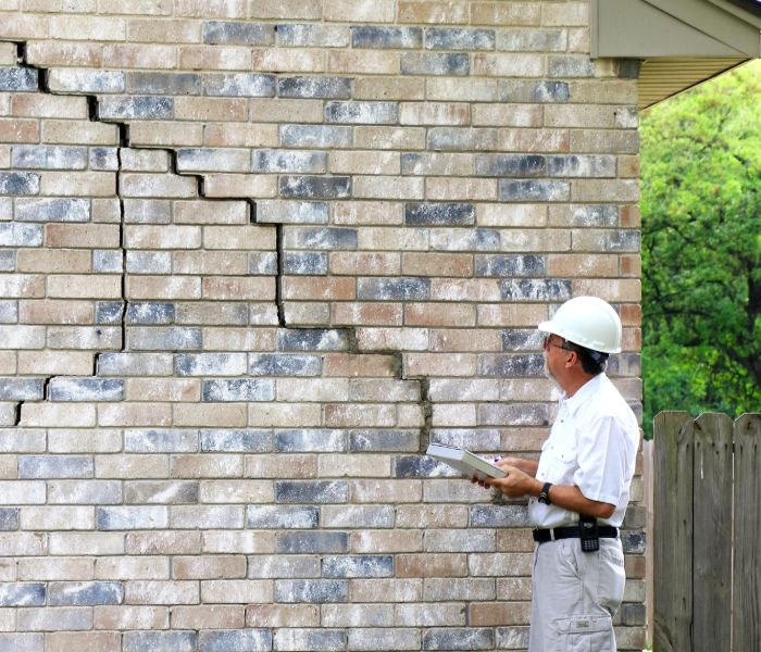 A home with a crumbling foundation needing repairs in Springfield MO.
